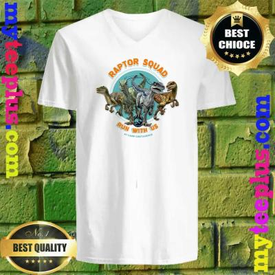 Jurassic World Camp Cretaceous Raptor Squad Run With Us v neck