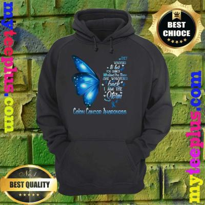 I am the storm Colon Cancer Awareness Butterfly hoodie
