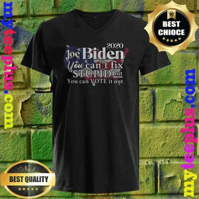 Joe Biden 2020 You Can't Fix Stupid Vote It Out v neck
