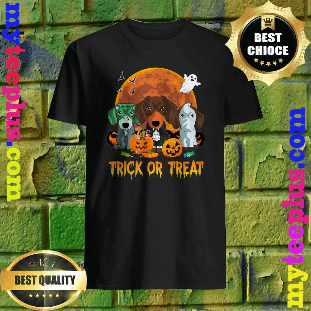 Trick or Treat Dachshund Halloween Gift For Dog Lover T-Shirt