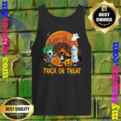 Trick or Treat Dachshund Halloween Gift For Dog Lover Tank top