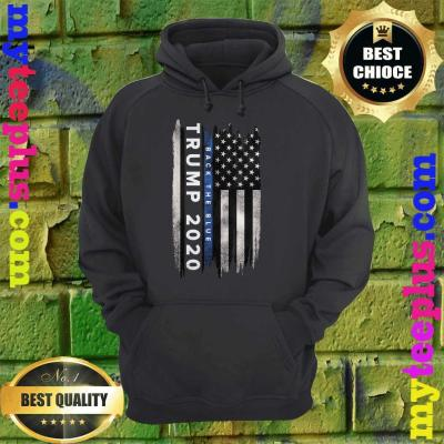 Trump Back The Blue US Flag Pro Trump Thin Blue Line hoodie