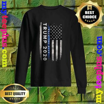 Trump Back The Blue US Flag Pro Trump Thin Blue Line Sweatshirt