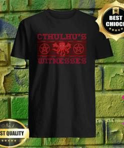 Ugly Cthulhu witnesses Funny Halloween Gift T-Shirt