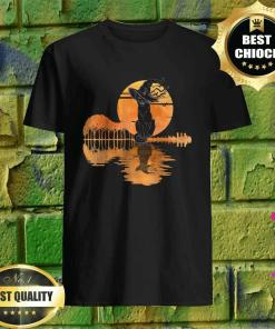 Vintage Halloween Scary Black Cat Witch Hat Moon Witchy Gift T-Shirt