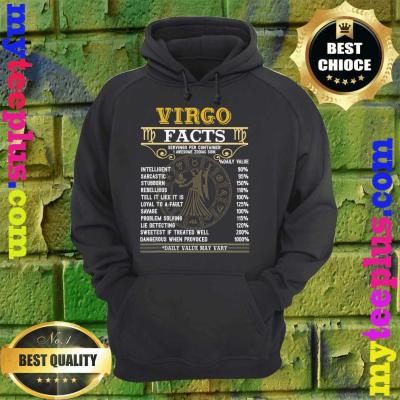 Virgo Facts Zodiac Signs Funny Birthday Gifts hoodie