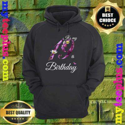 19 Year Old Shirt Floral 2001 It's My 19th Birthday Gift hoodie