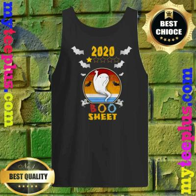 2020 Boo Sheet 1 Star Rating Funny Ghost Halloween Gift Tank top
