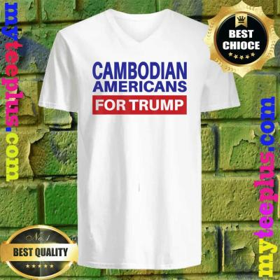 Cambodian Americans For Trump - Election 2020 Republican v neck