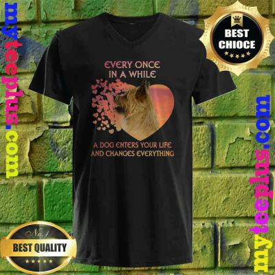 Every Once In A While A Dog Enters Your Life Cairn Terrier v neck
