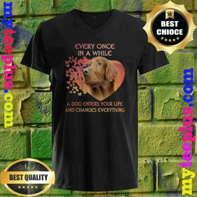 Every Once In A While A Dog Enters Your Life Irish Setter v neck