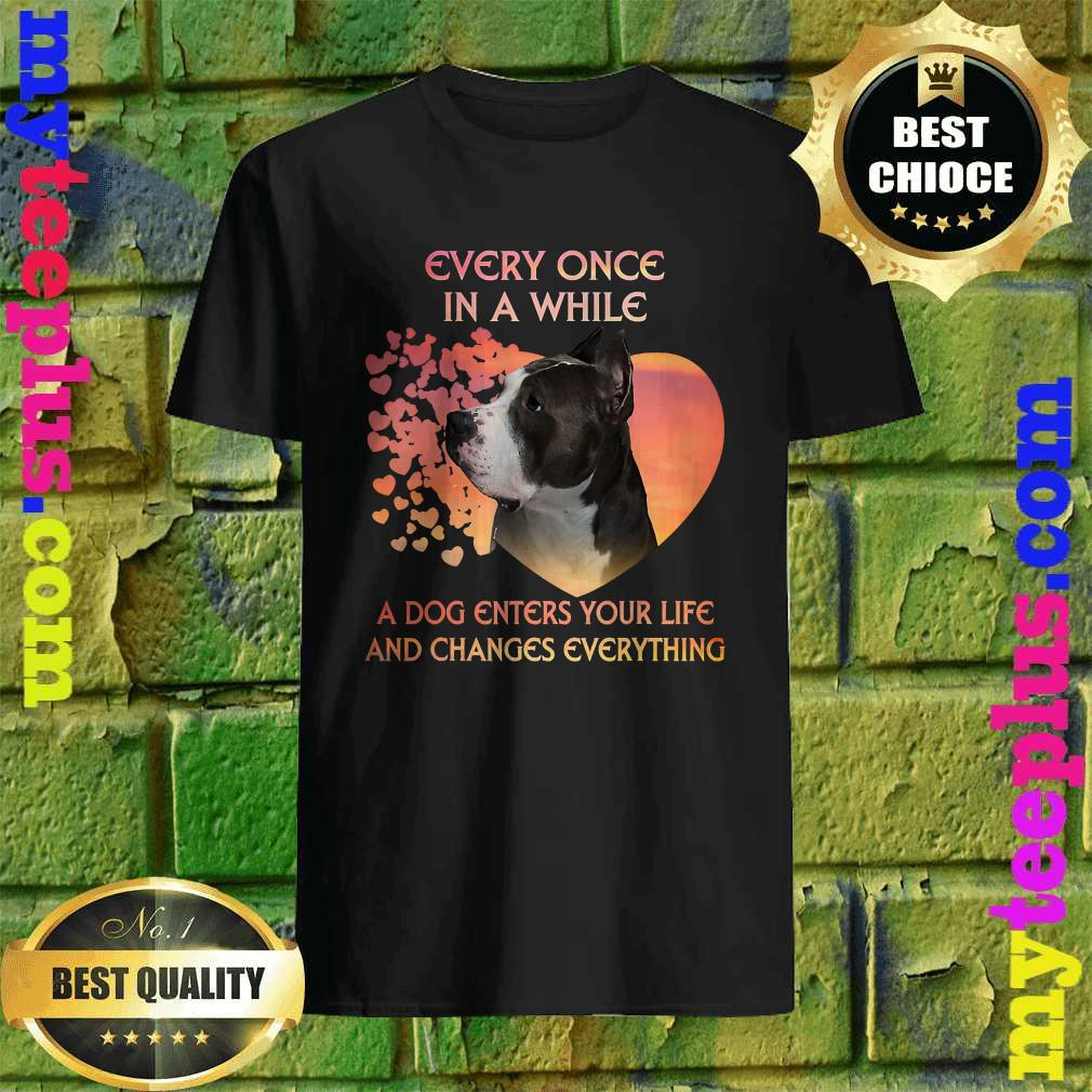 Every Once In A While American Pit Bull Terrier T-Shirt