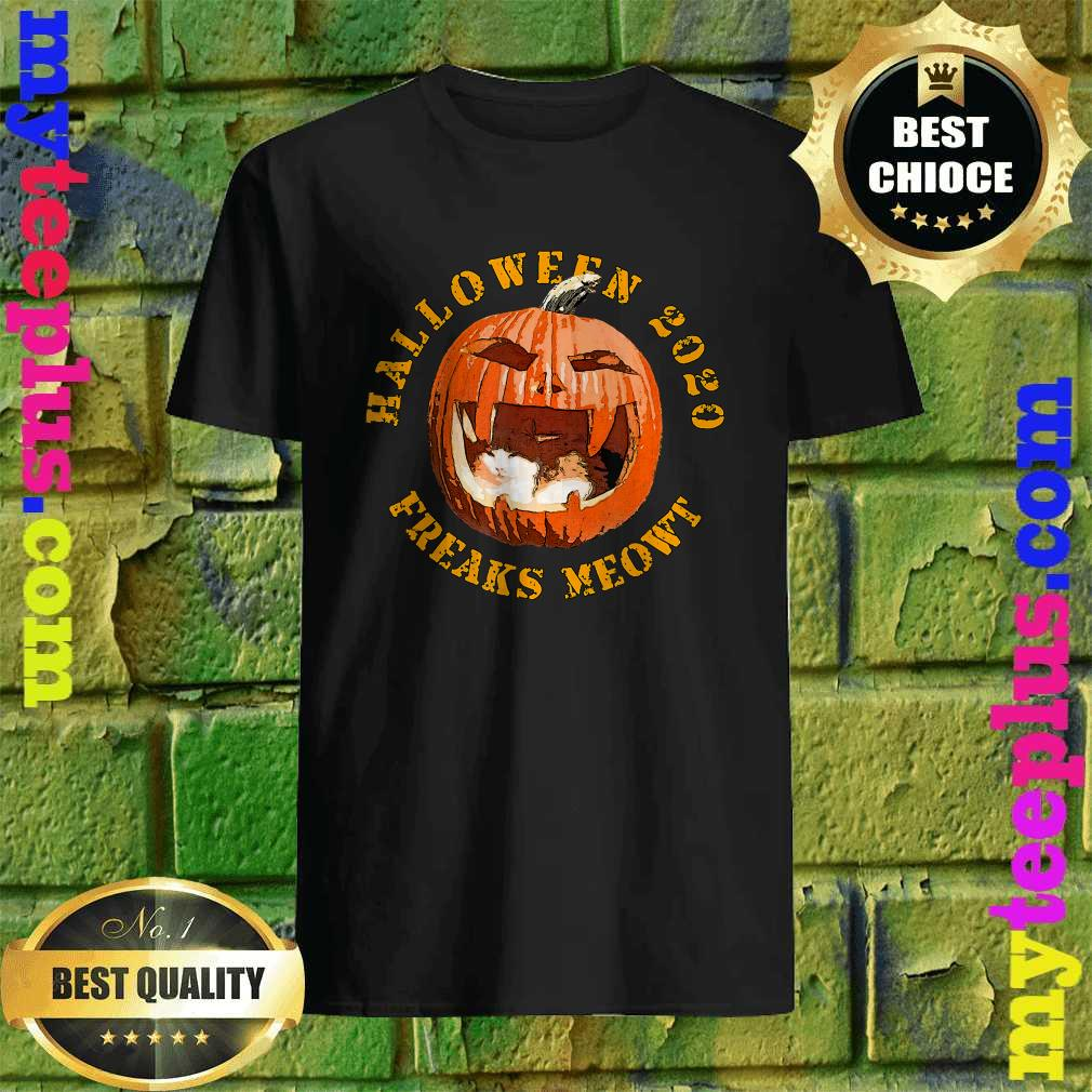 Freak Meowt Halloween 2020 Pumpkin Jackolantern Cat T-Shirt