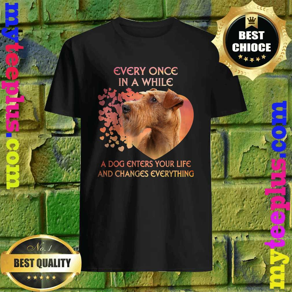 Irish Terrier A Dog Enters You Life And Changes Every Thing shirt