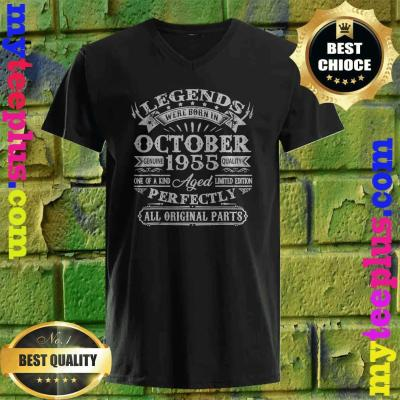 Legends Were Born In October 1955 65th Birthday Gifts v neck
