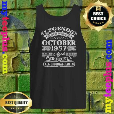 Legends Were Born In October 1957 63rd Birthday Gifts Tank top