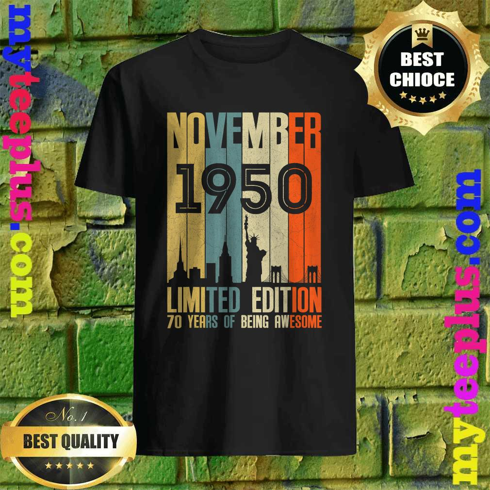 November 1950 Funny 70th Birthday 70 Years Old Gift T-Shirt