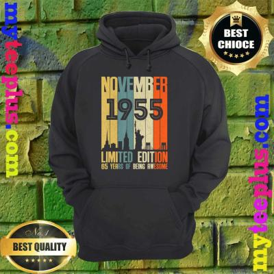 November 1955 Funny 65th Birthday 65 Years Old Gift hoodie
