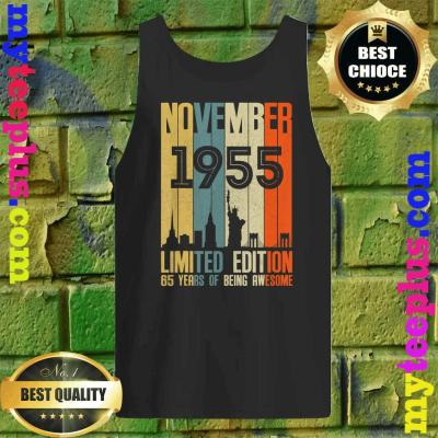 November 1955 Funny 65th Birthday 65 Years Old Gift Tank top