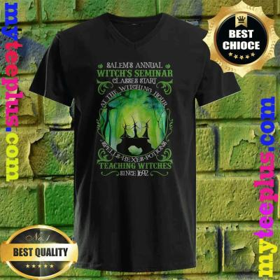 Salems Annual Witchs Seminar Witchcraft Halloween Costume v neck