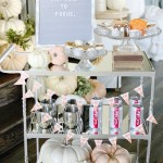 Bar Cart Styling For Fall And Halloween My Texas House