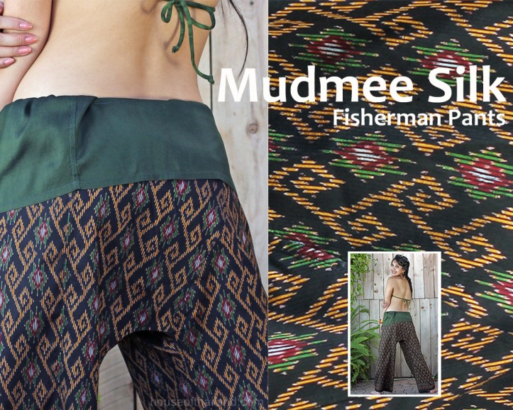 Mudmee silk fisherman pants