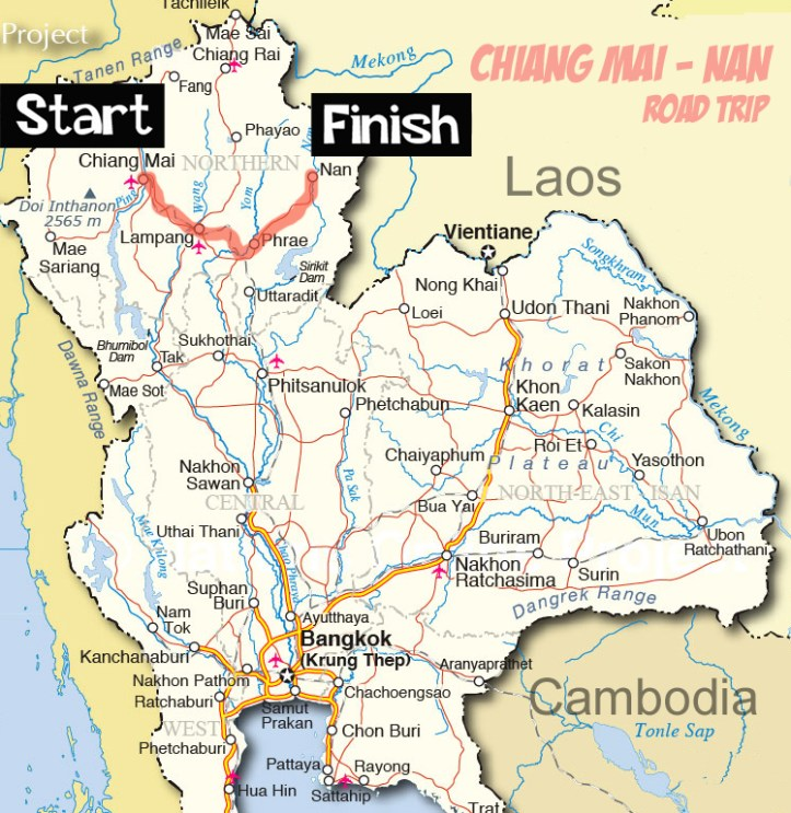 Lampang Thailand Map.In Search Of Kao Lam Lampang Prae Nan My Thailand