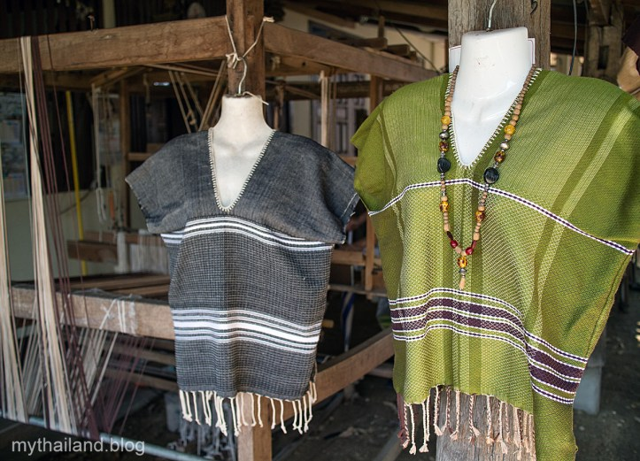 Handwoven Shirts at Ban Daun Luang