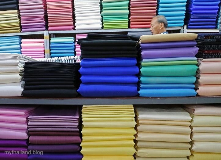 Plain Woven Thai silks in Bangkok