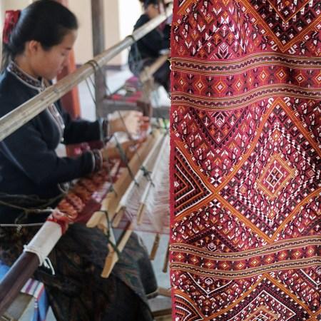 Praewa Silk Weaver in Ban Phon, Thailand
