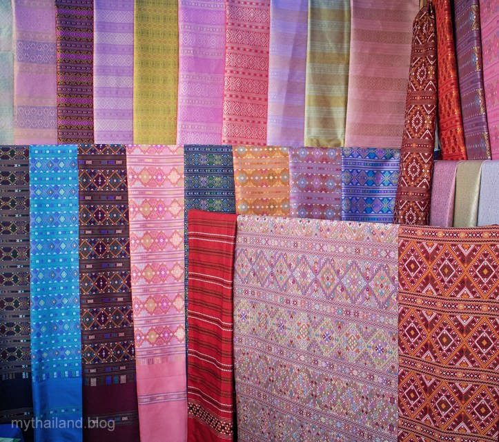 A Display of Praewa Silk