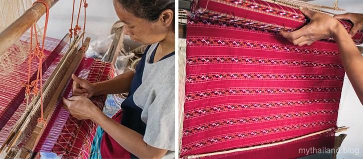 Praewa silk weaving