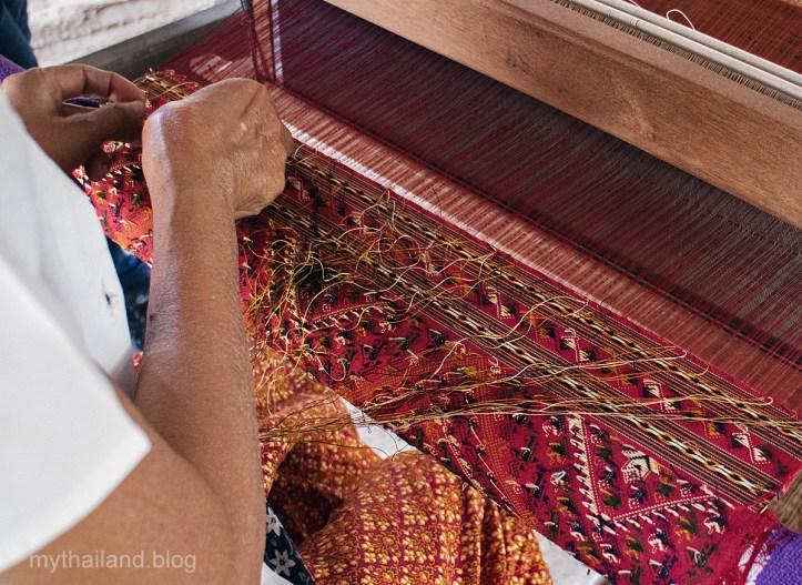 Praewa Silk on the loom.