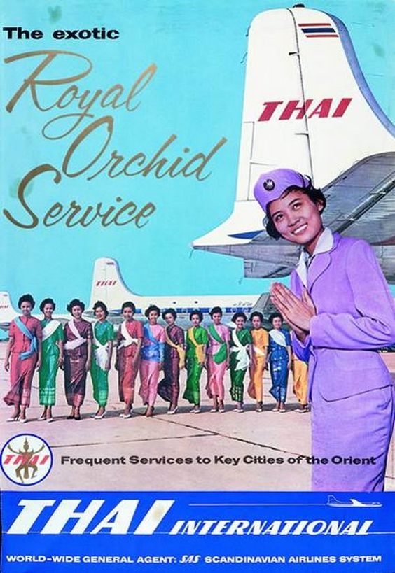 Thai Airways International Ad Poster