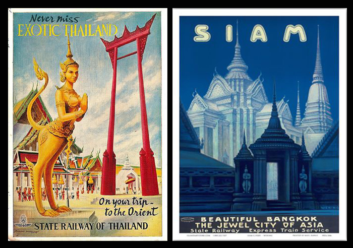 State Railway of Thailand Posters 1930s