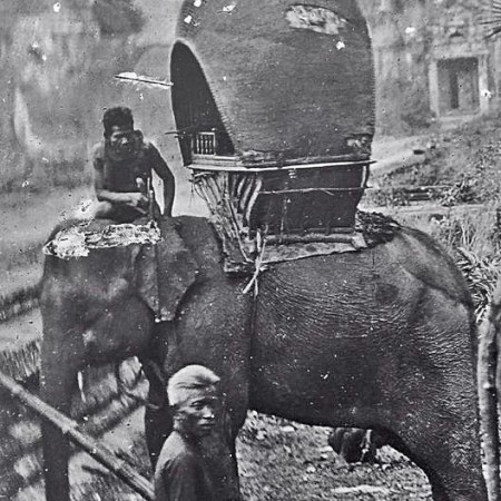The elephants of Thailand: Vintage Photos