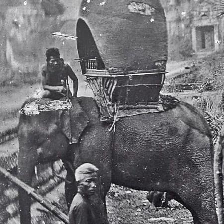 The elephants of Thailand: Vintage Photos