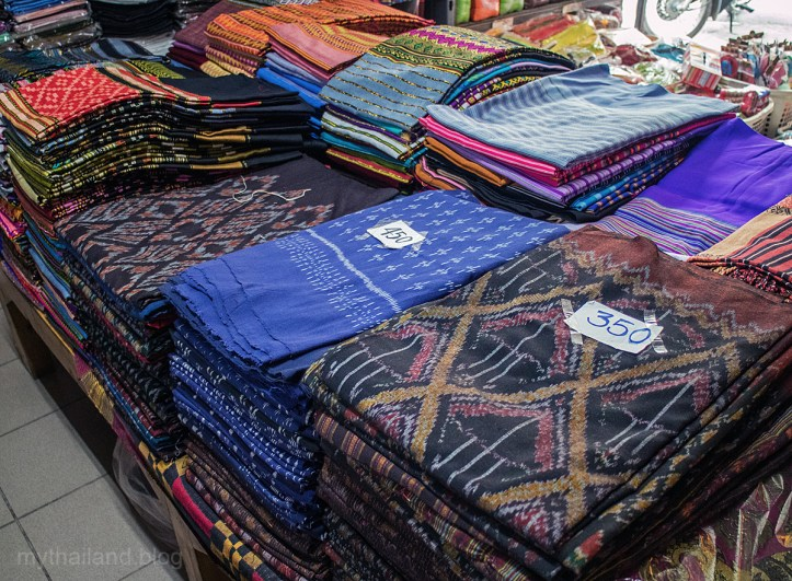 Mudmee Cotton on sale at the Chiang Mai Fabric District