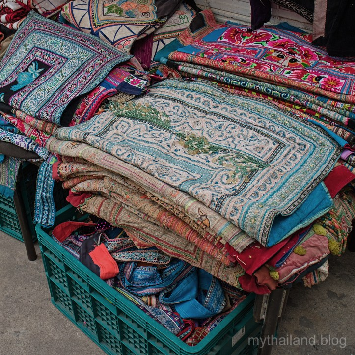 Hill Tribe fabrics in Chiang Mai Fabric District