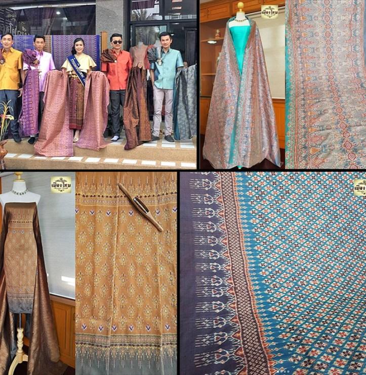 Muengmai Silk Shop in Chonobot, Thailand