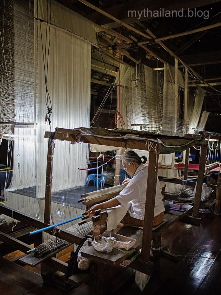 Silk weaver in Baan Ta-Sa-Wang, Thailand