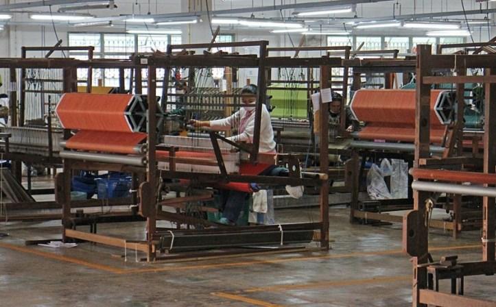 Handwoven fabrics near Chiang Rai, Thailand