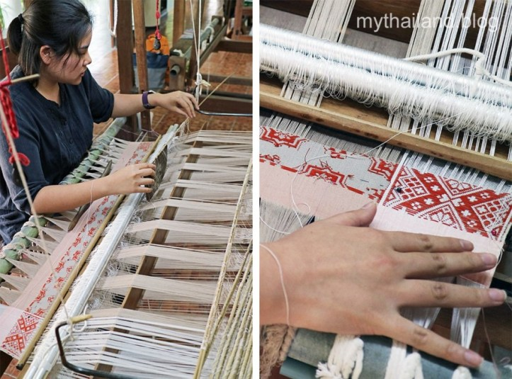 Thai cotton weaver in Lamphun Province, Thailand