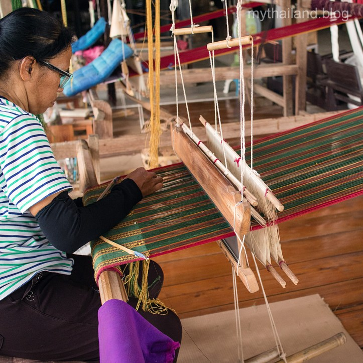 Weaving in Ban Hat Siaw, Thailand