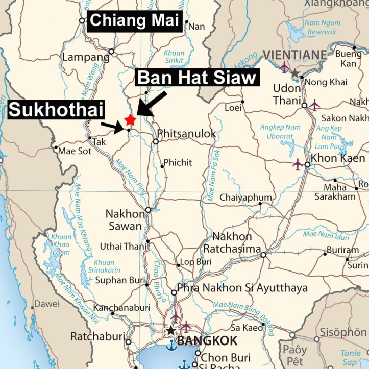 Ban Hat Siaw, Thailand Map