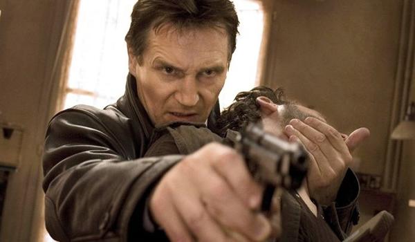 Liam Neeson in one of the Taken films