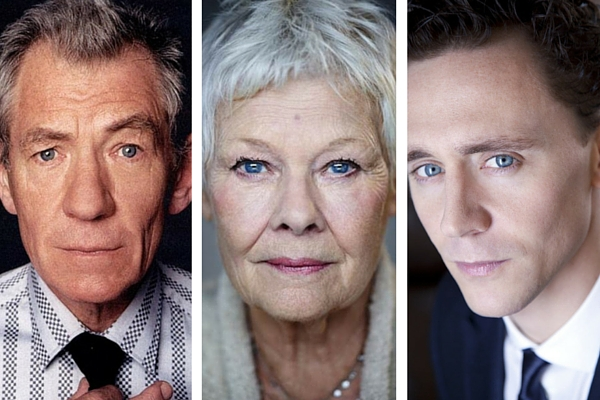Ian McKellen, Judi Dench and Tom Hiddleston