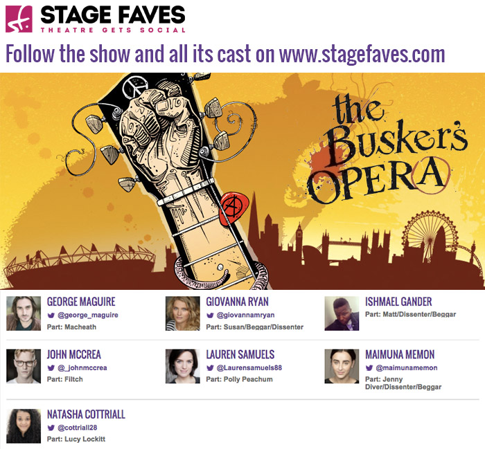 Find full social media directory for the show, the cast and the theatre on #StageFaves