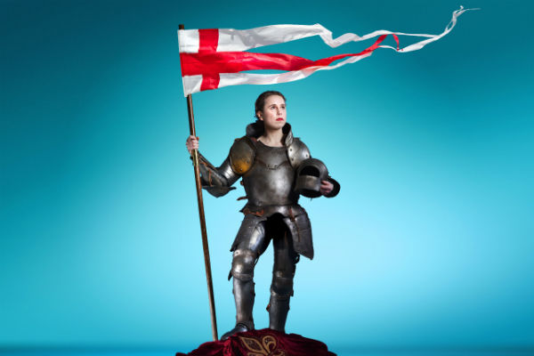 Michelle Terry as Henry V at the Open Air Theatre, Regent's Park