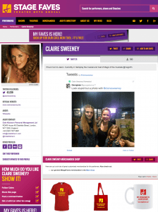 Get social media feeds for Claire Sweeney and other musical theatre stars on www.stagefaves.com